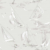 Boråstapeter Sailboats Grey Wallpaper - Product code: 8855
