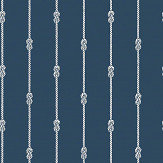 Boråstapeter Knot Stripe Dark Blue Wallpaper - Product code: 8858