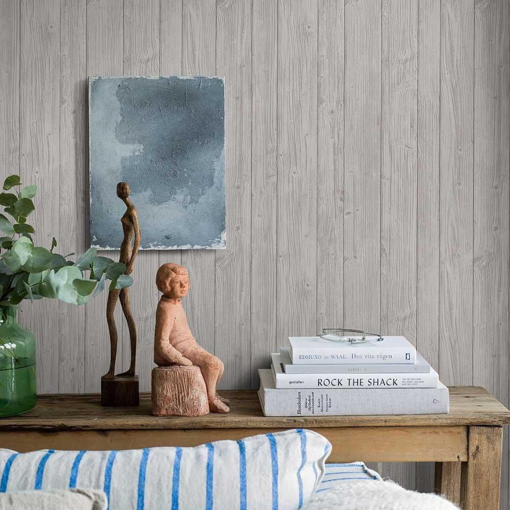 Boråstapeter Driftwood Grey Wallpaper - Product code: 8865