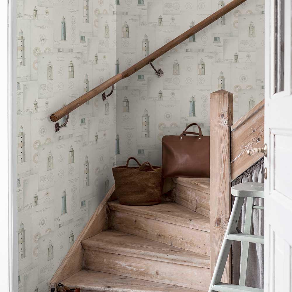 Boråstapeter Lighthouse Beige Wallpaper - Product code: 8867