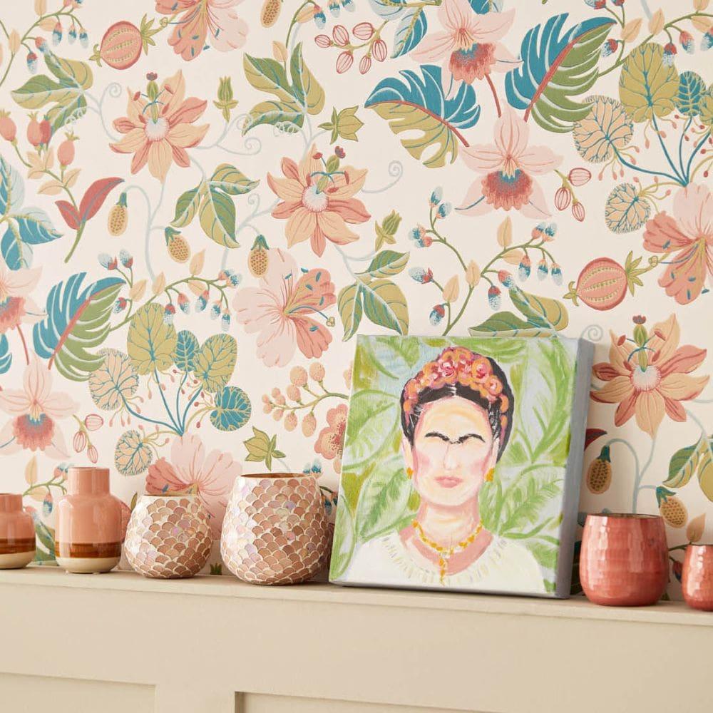 Eijffinger Carmen Trail Cream Wallpaper - Product code: 392500