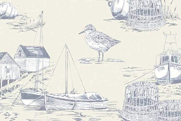 Arthouse Curlew Bay Blue Wallpaper - Product code: 699300