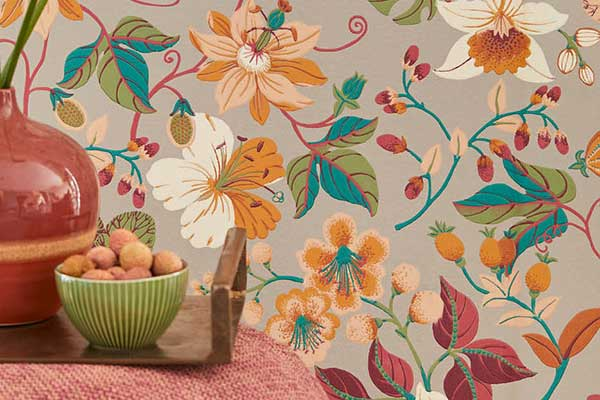 Eijffinger Carmen Trail Grey Wallpaper - Product code: 392501