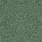 Eijffinger Swirling Leaves Green Wallpaper - Product code: 392512