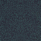Eijffinger Swirling Leaves Teal Wallpaper - Product code: 392513