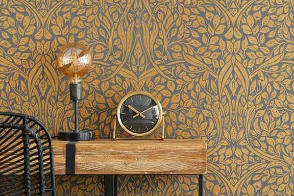 Eijffinger Swirling Leaves Bronze Wallpaper - Product code: 392514