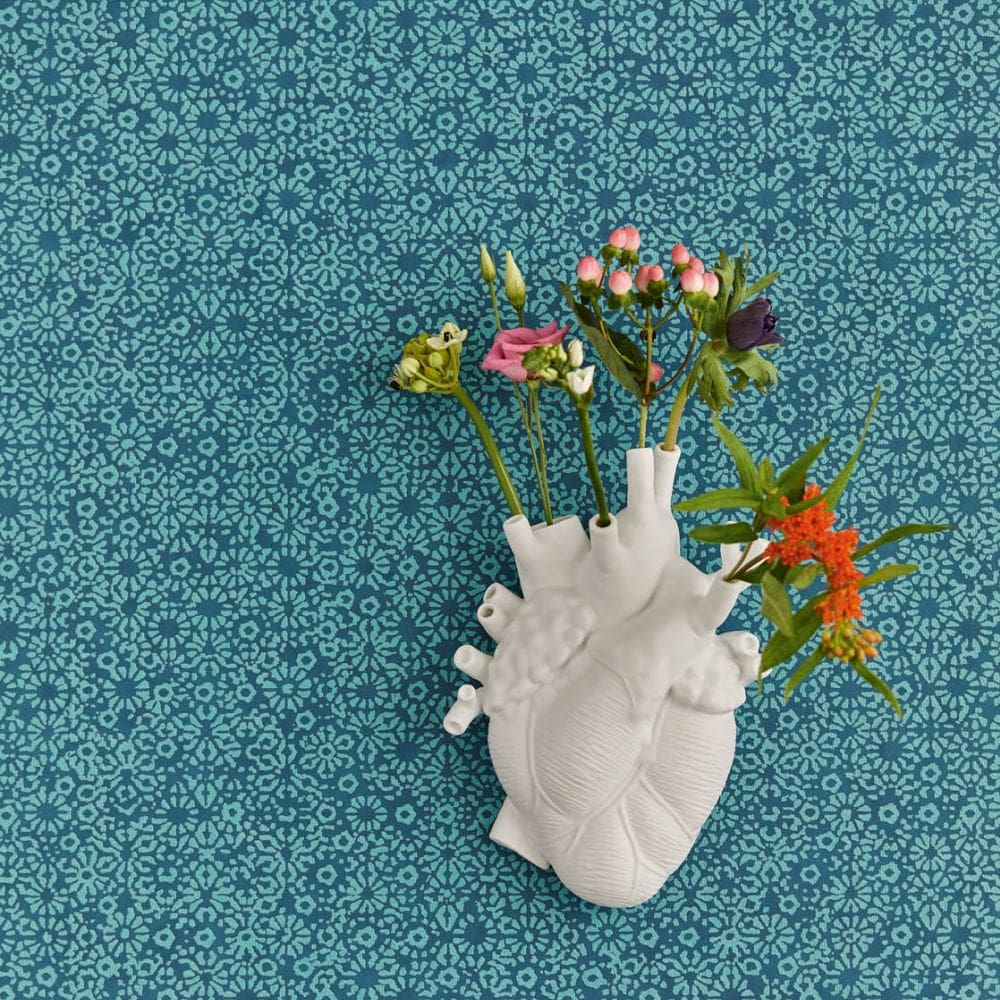 Rosario Wallpaper - Teal - by Eijffinger