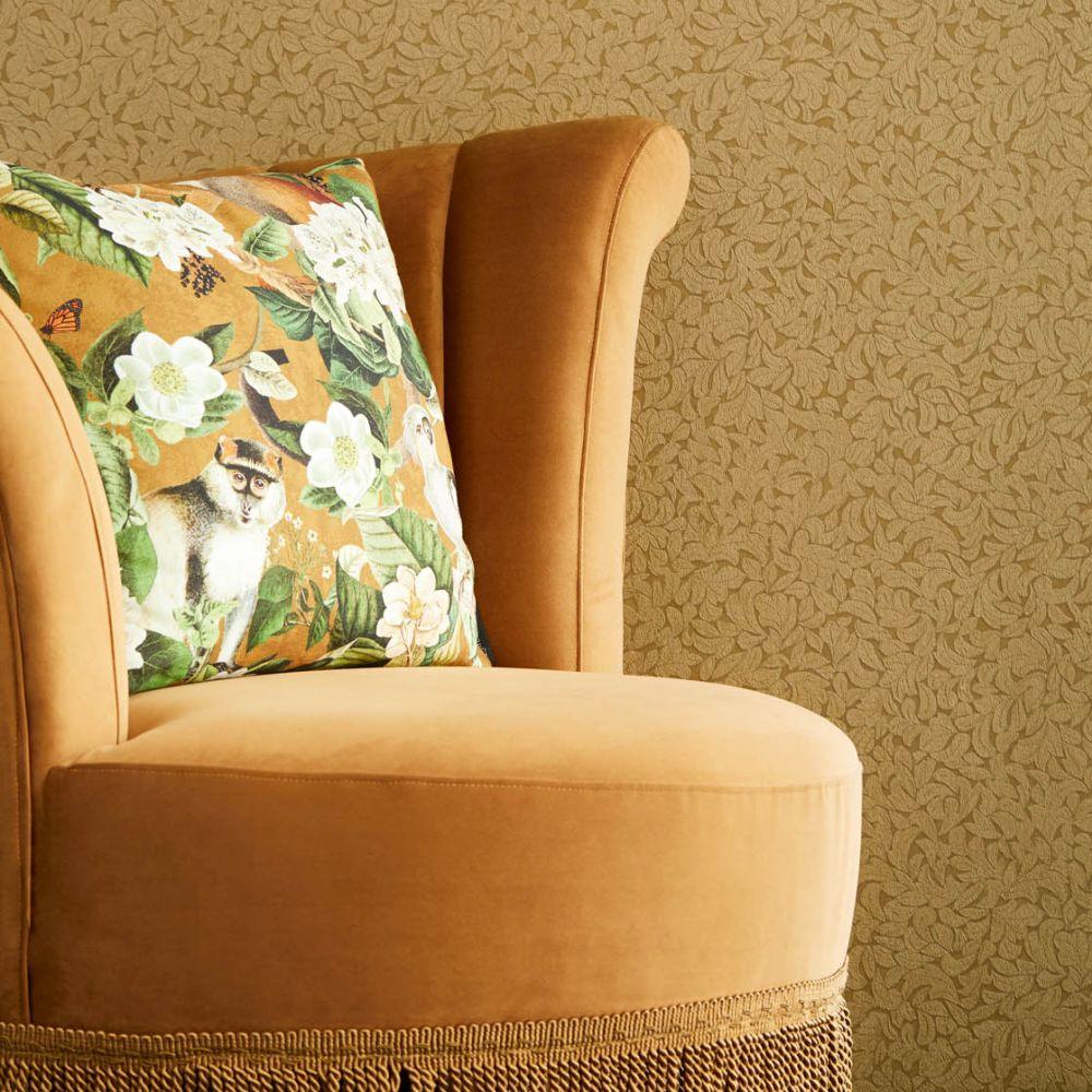 Leaves Wallpaper - Bronze - by Eijffinger