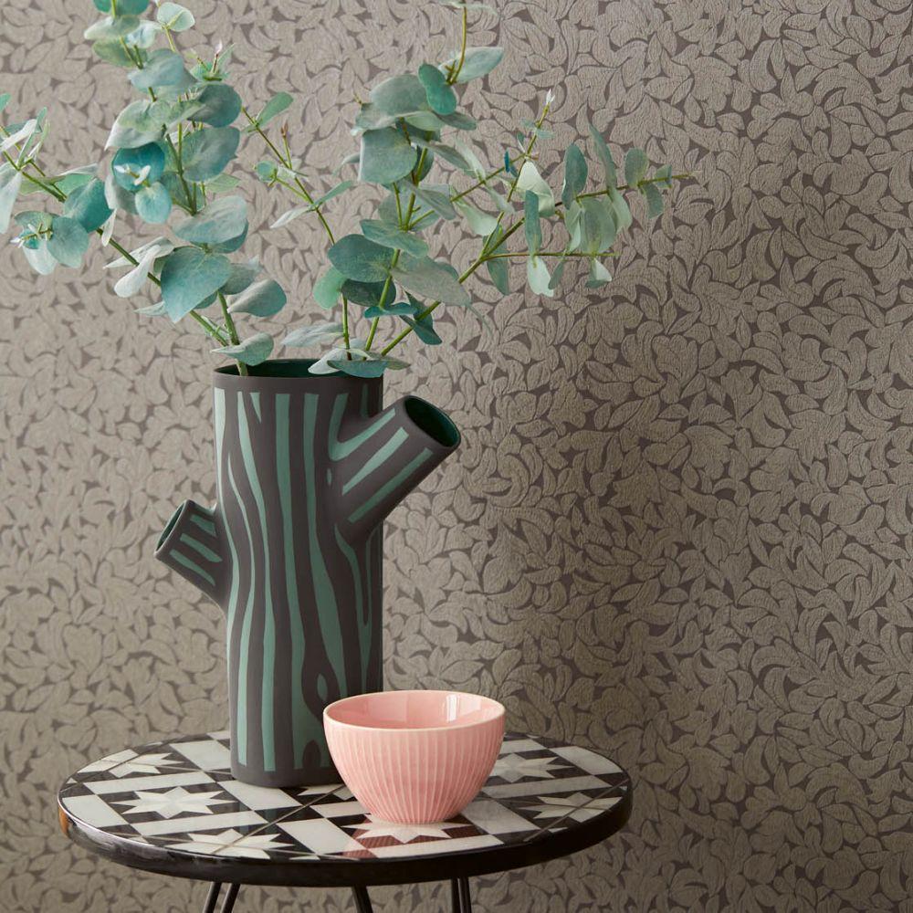 Eijffinger Leaves Grey Wallpaper - Product code: 392552