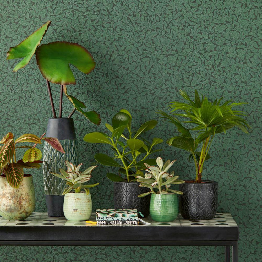 Eijffinger Leaves Green Wallpaper - Product code: 392554