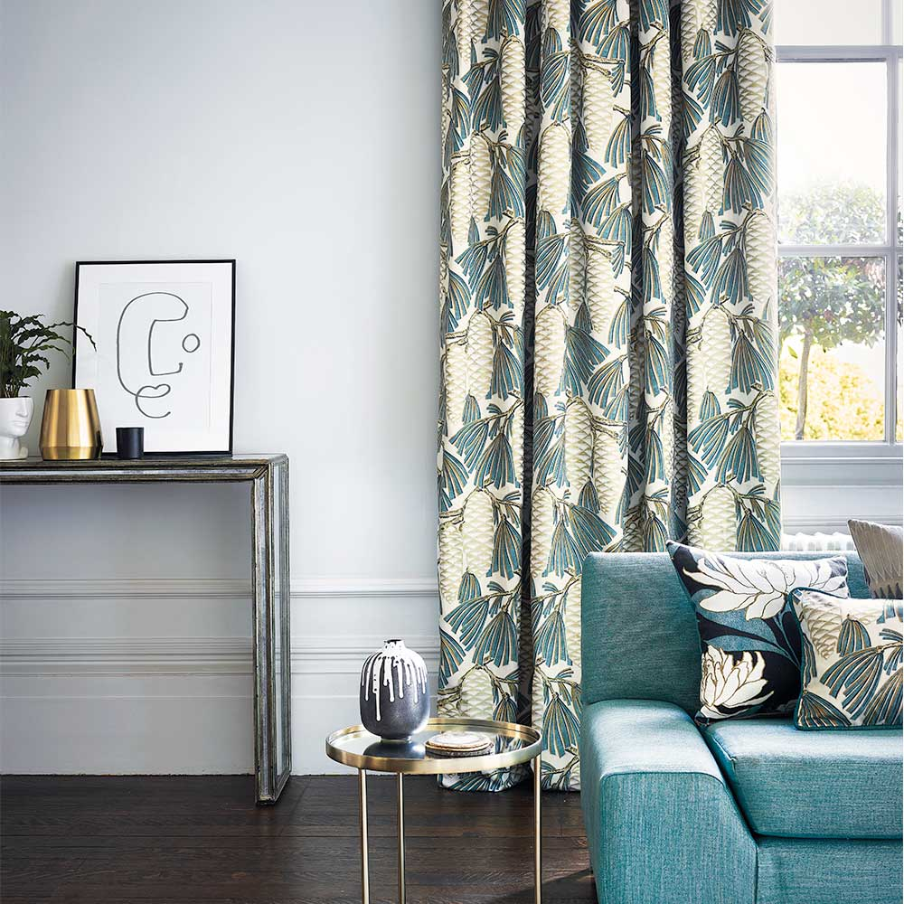 Foxley Fabric - Kingfisher - by Harlequin