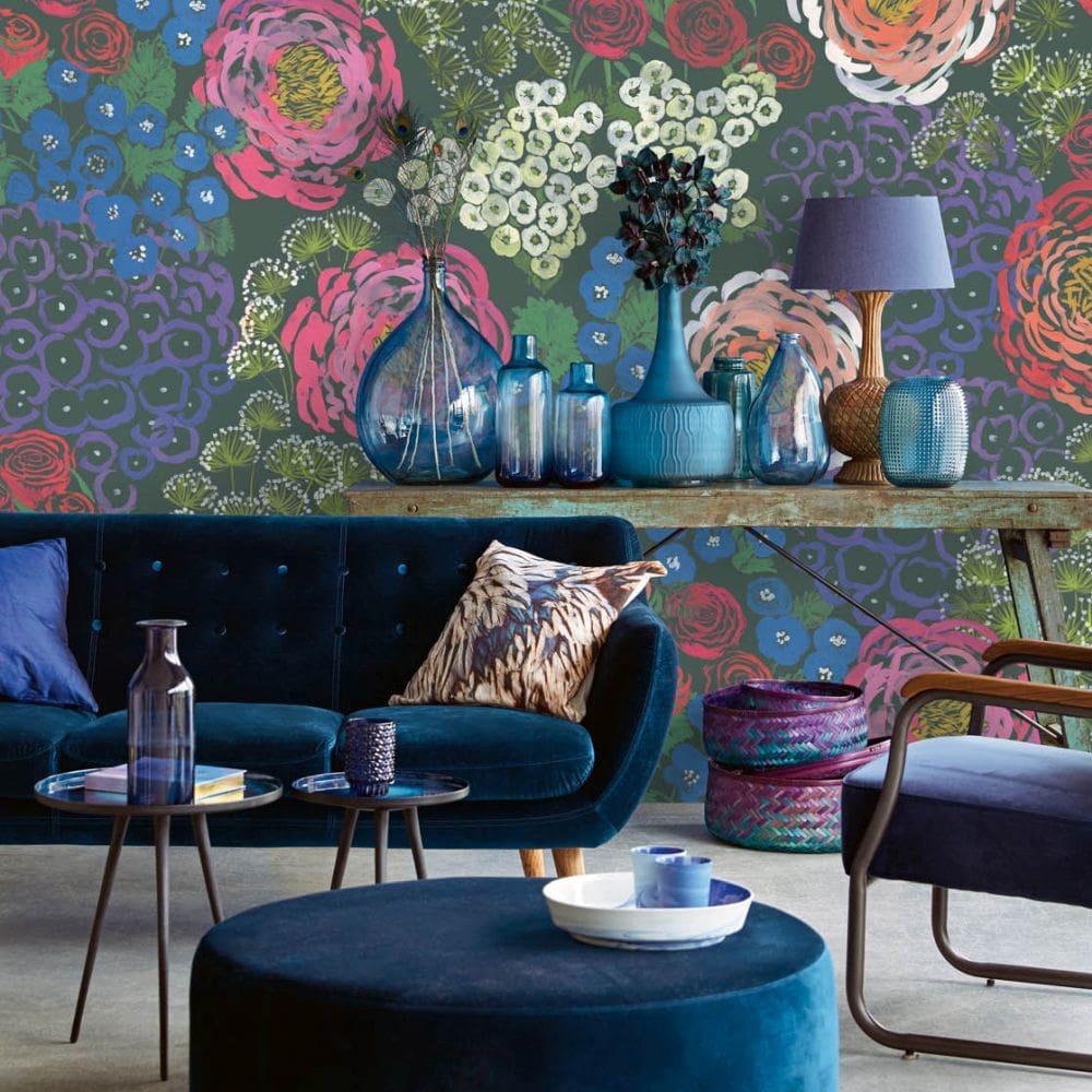 Folk Fantastic Mural - Multi Coloured - by Eijffinger