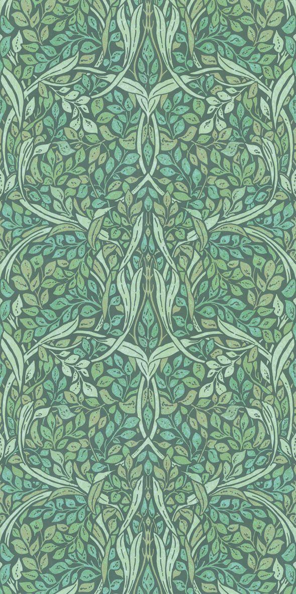 Swirling Leaves Mural - Spring - by Eijffinger
