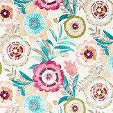 Harlequin Komovi Azaelea/ Fern/ Lagoon Fabric - Product code: 120814