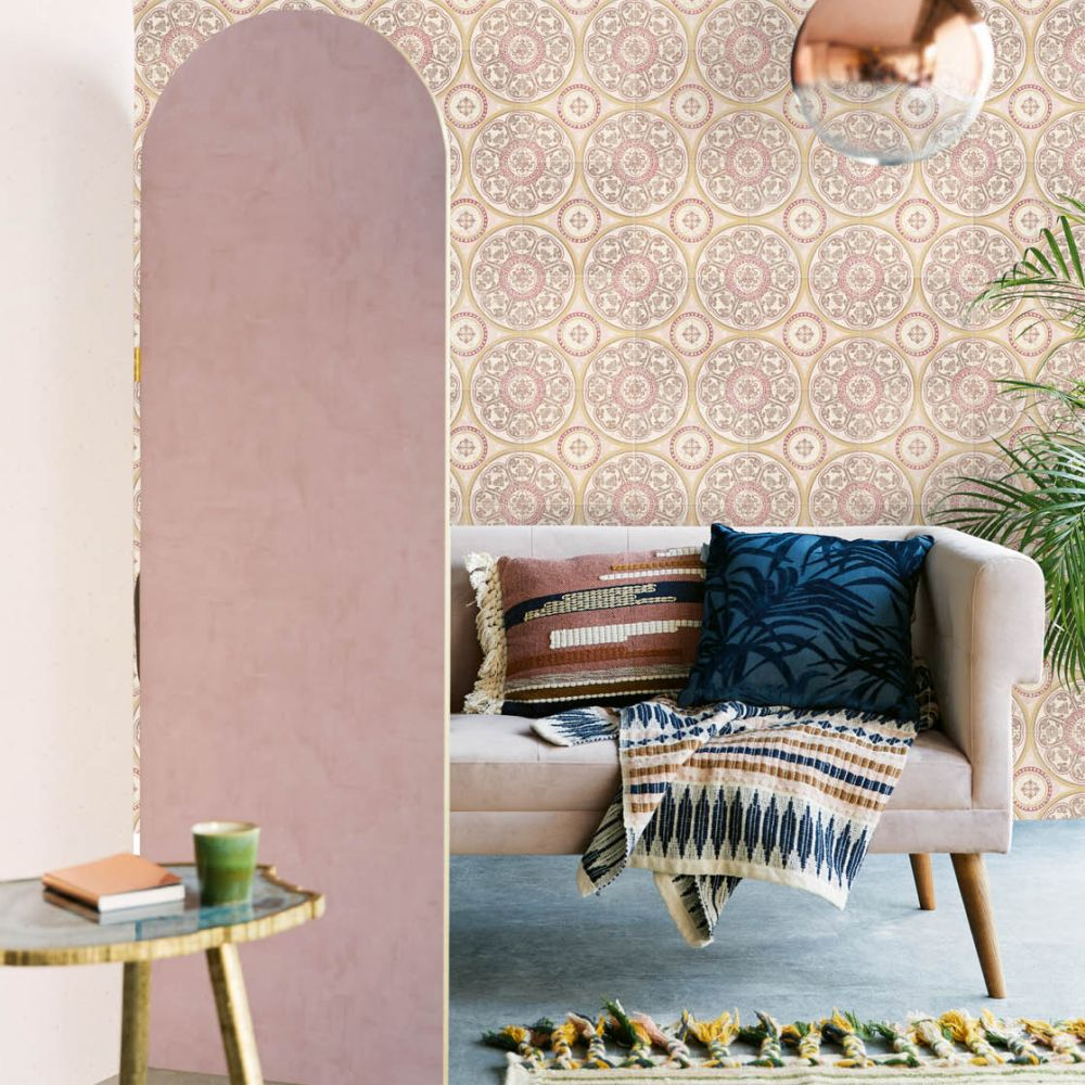 Eijffinger Rosario Tiles Mural Pink - Product code: 392575