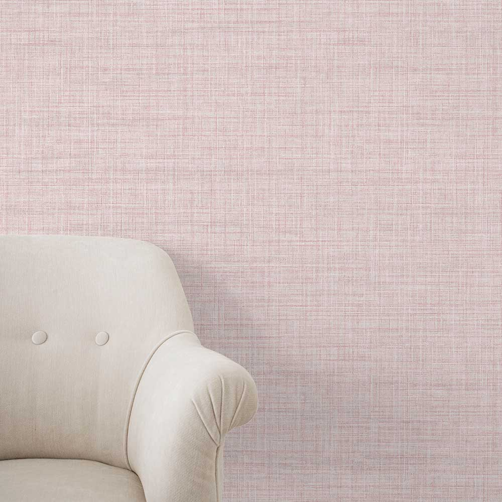 A Street Prints Linen Pink Wallpaper - Product code: FD24272