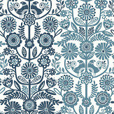 A Street Prints Lovebirds Blue Wallpaper - Product code: FD25106