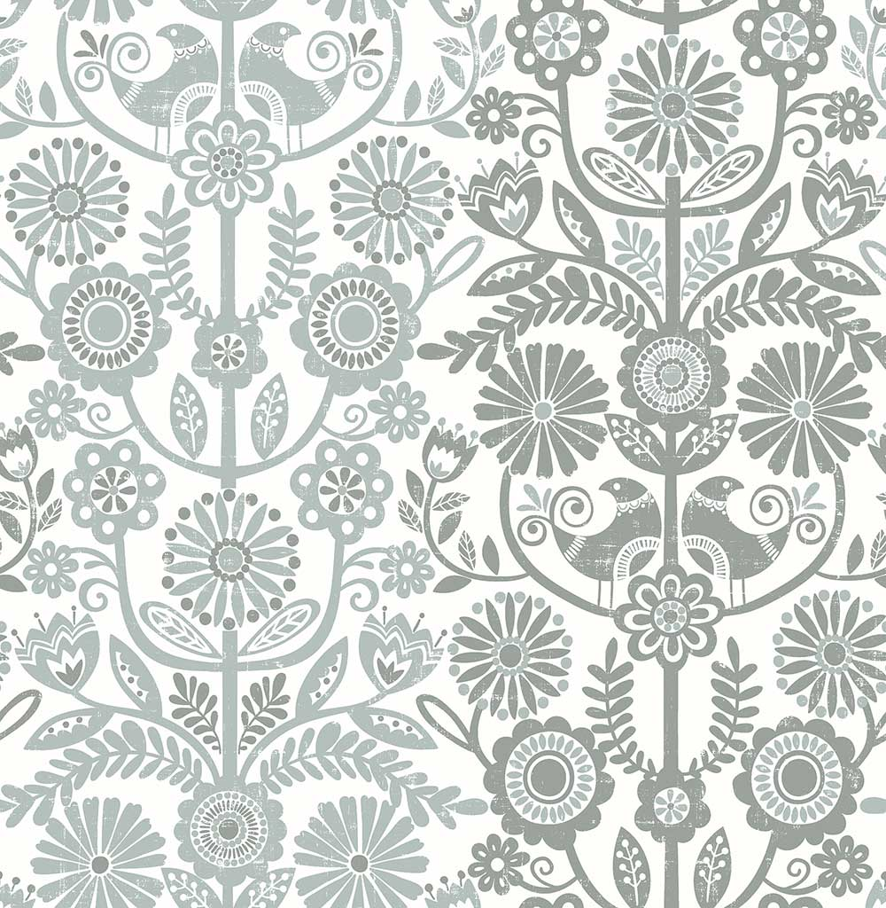 A Street Prints Lovebirds Grey Wallpaper - Product code: FD25107