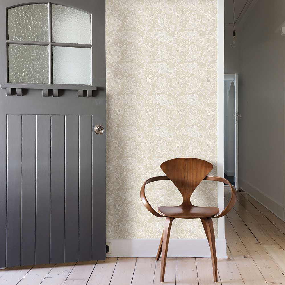 Ana Wallpaper - Beige - by A Street Prints