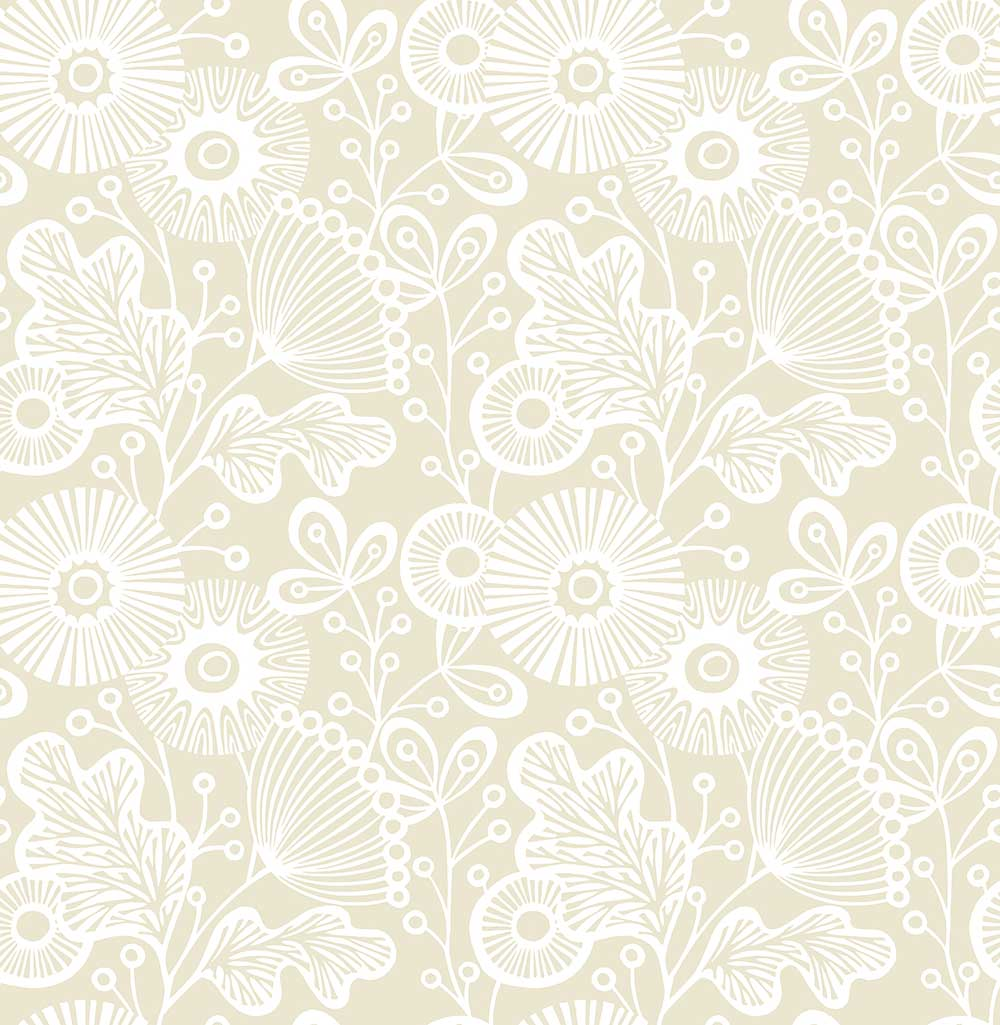 A Street Prints Ana Beige Wallpaper - Product code: FD25108