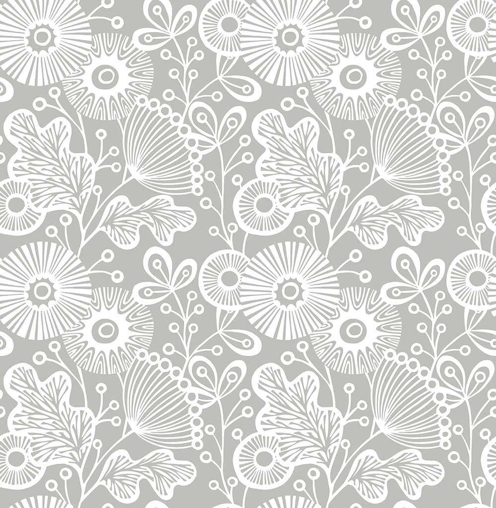 A Street Prints Ana Grey Wallpaper - Product code: FD25111