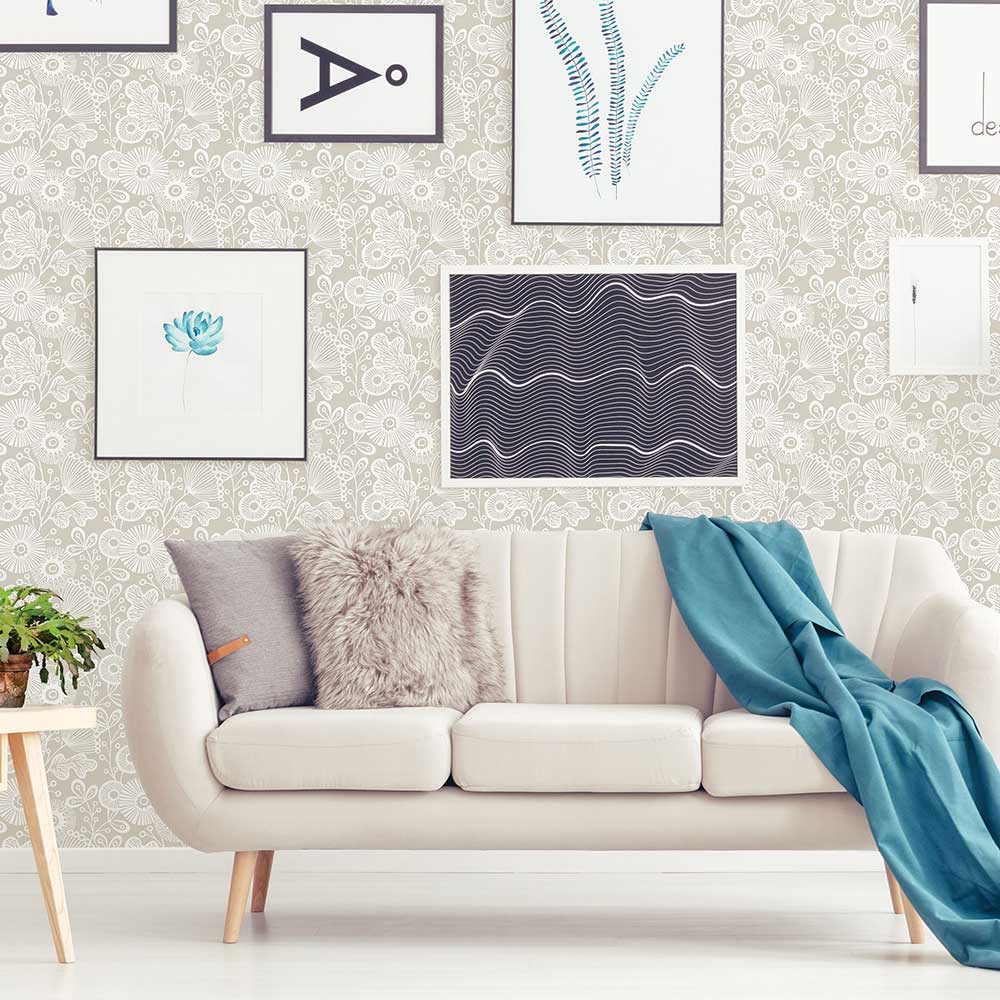 Ana Wallpaper - Taupe - by A Street Prints