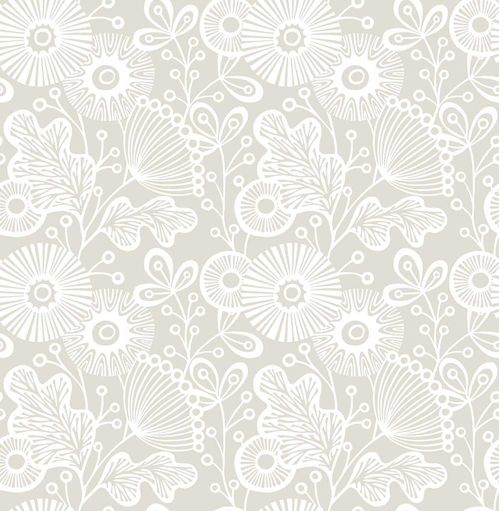 A Street Prints Ana Taupe Wallpaper - Product code: FD25112