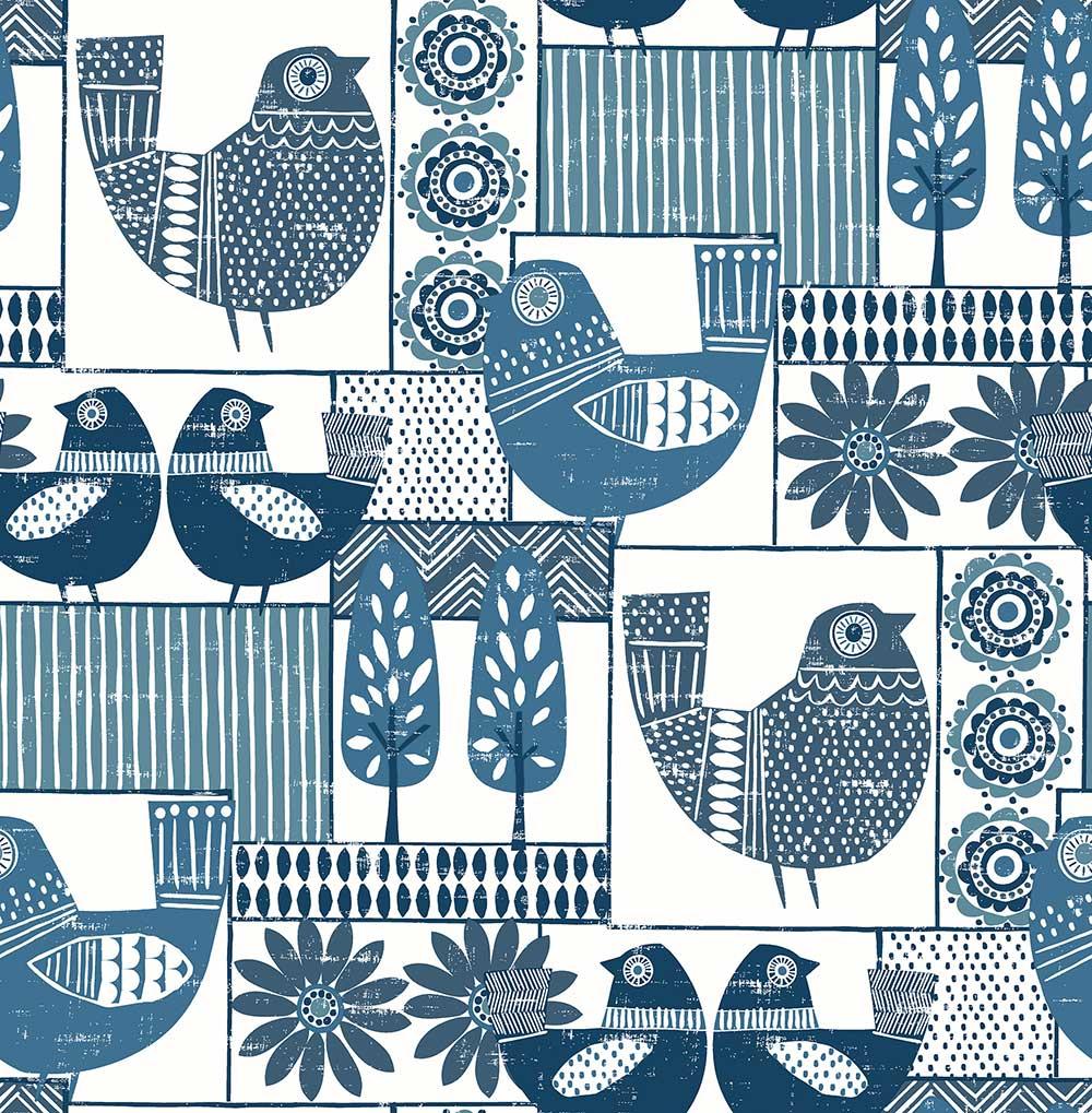 A Street Prints Hennika Blue Wallpaper - Product code: FD25113