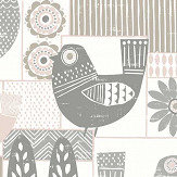 A Street Prints Hennika Grey / Pink Wallpaper - Product code: FD25115