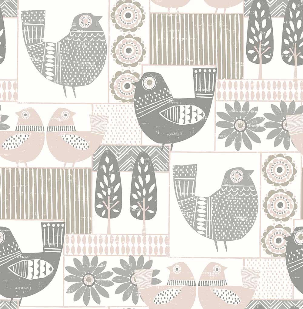 A Street Prints Hennika Grey / Pink Wallpaper - Product code: FD25115