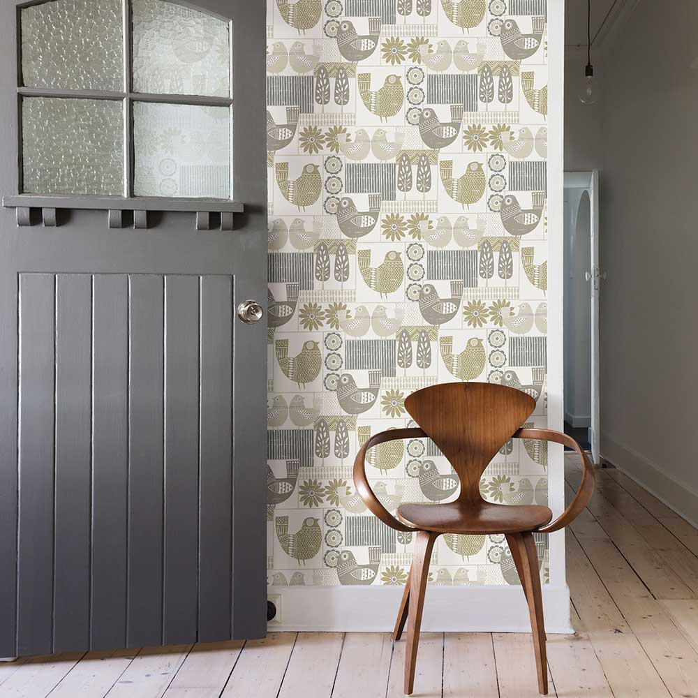 Hennika Wallpaper - Grey / Beige - by A Street Prints