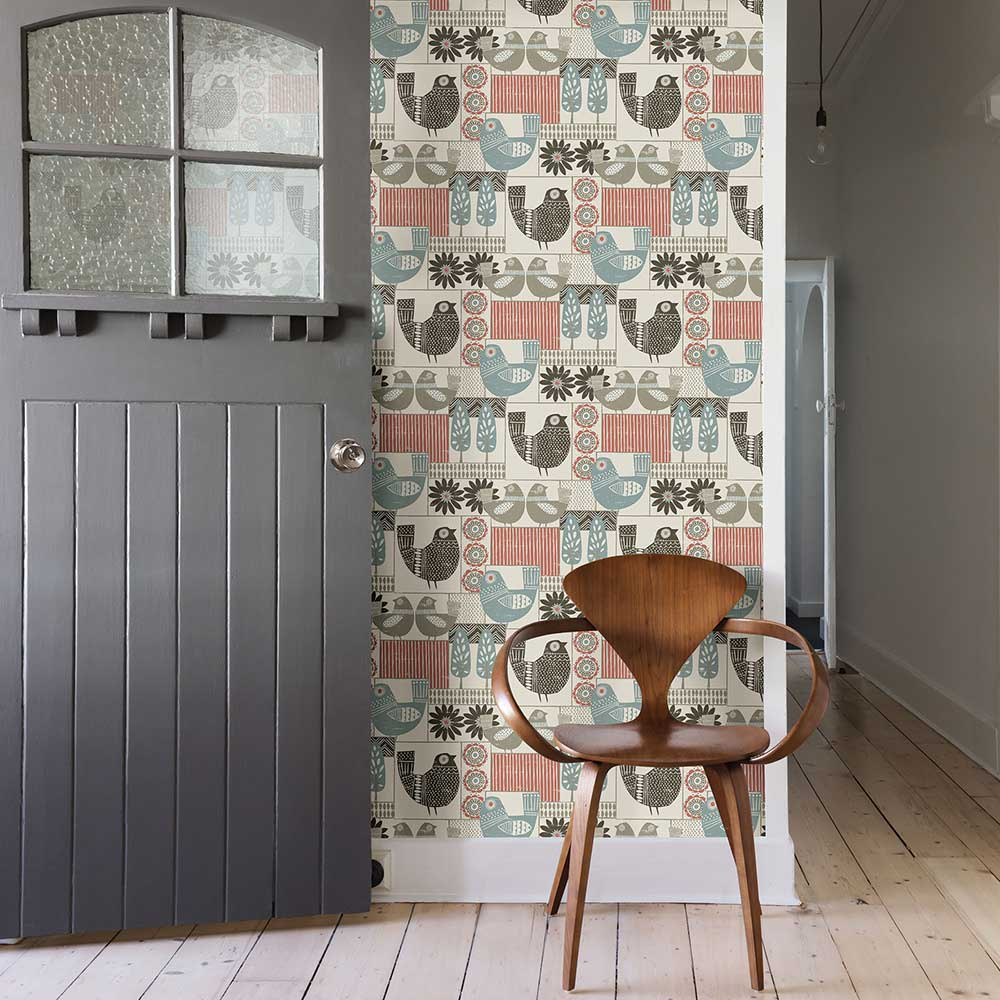 A Street Prints Hennika Multi-coloured Wallpaper - Product code: FD25117