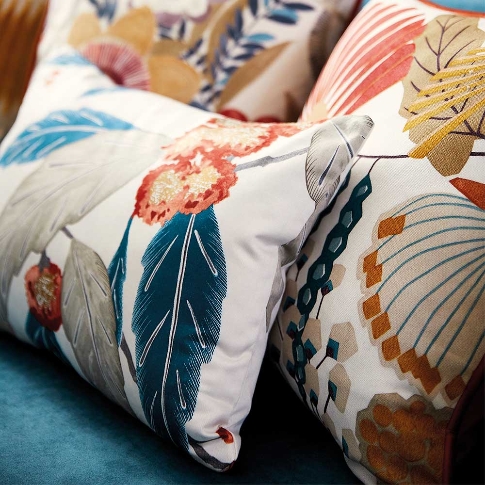 Coppice Fabric - Russet/ Midnight - by Harlequin