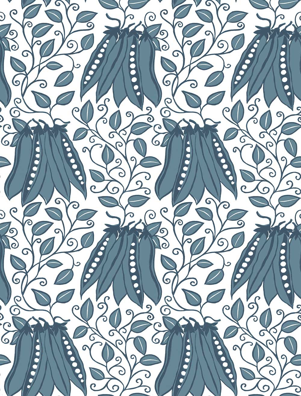 A Street Prints Peas in a pod Blue Wallpaper - Product code: FD25118