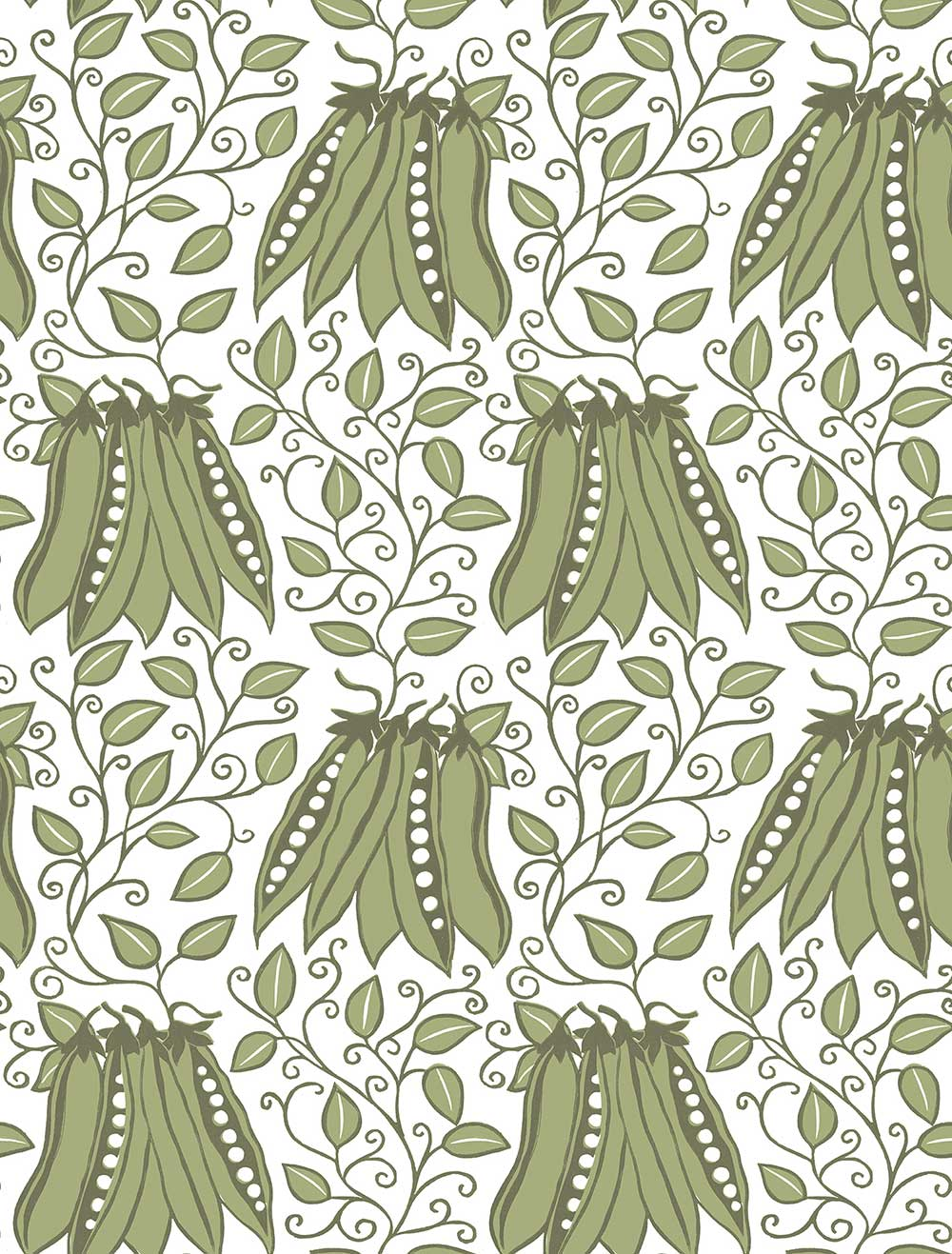 A Street Prints Peas in a pod Green Wallpaper - Product code: FD25120