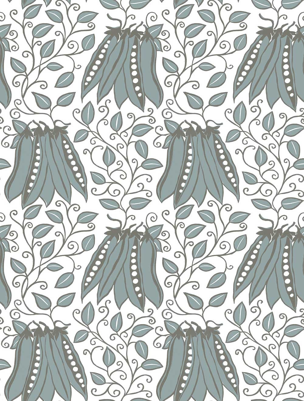 A Street Prints Peas in a pod Blue Wallpaper - Product code: FD25121