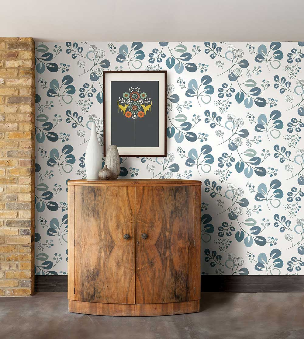 Jona Wallpaper - Blue - by A Street Prints