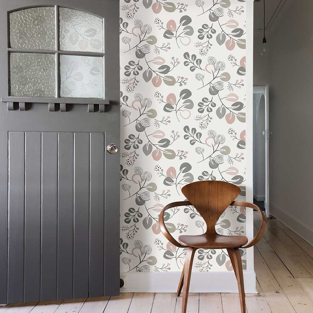 A Street Prints Jona Grey / Pink Wallpaper - Product code: FD25125