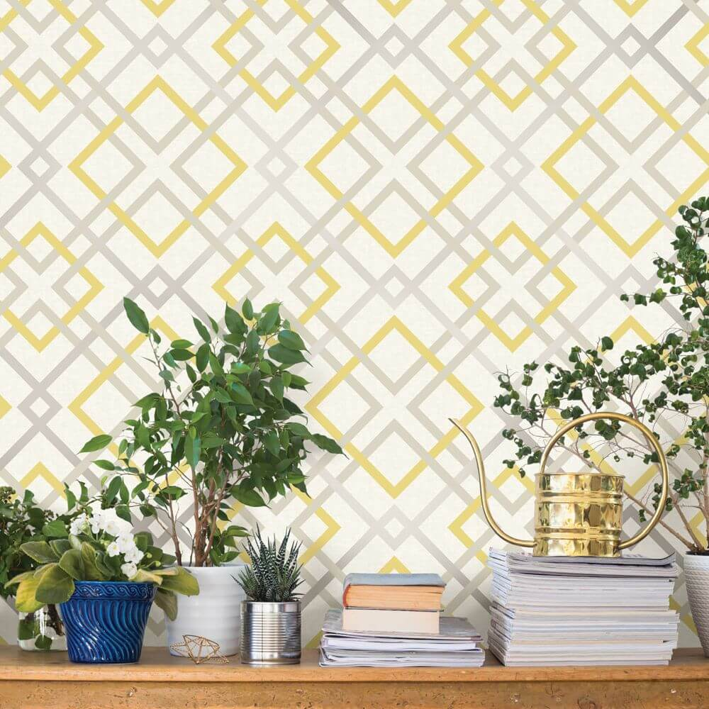 A Street Prints Saltire Yellow Wallpaper - Product code: FD22652