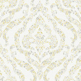A Street Prints Featherton Yellow / Grey Wallpaper - Product code: FD25401