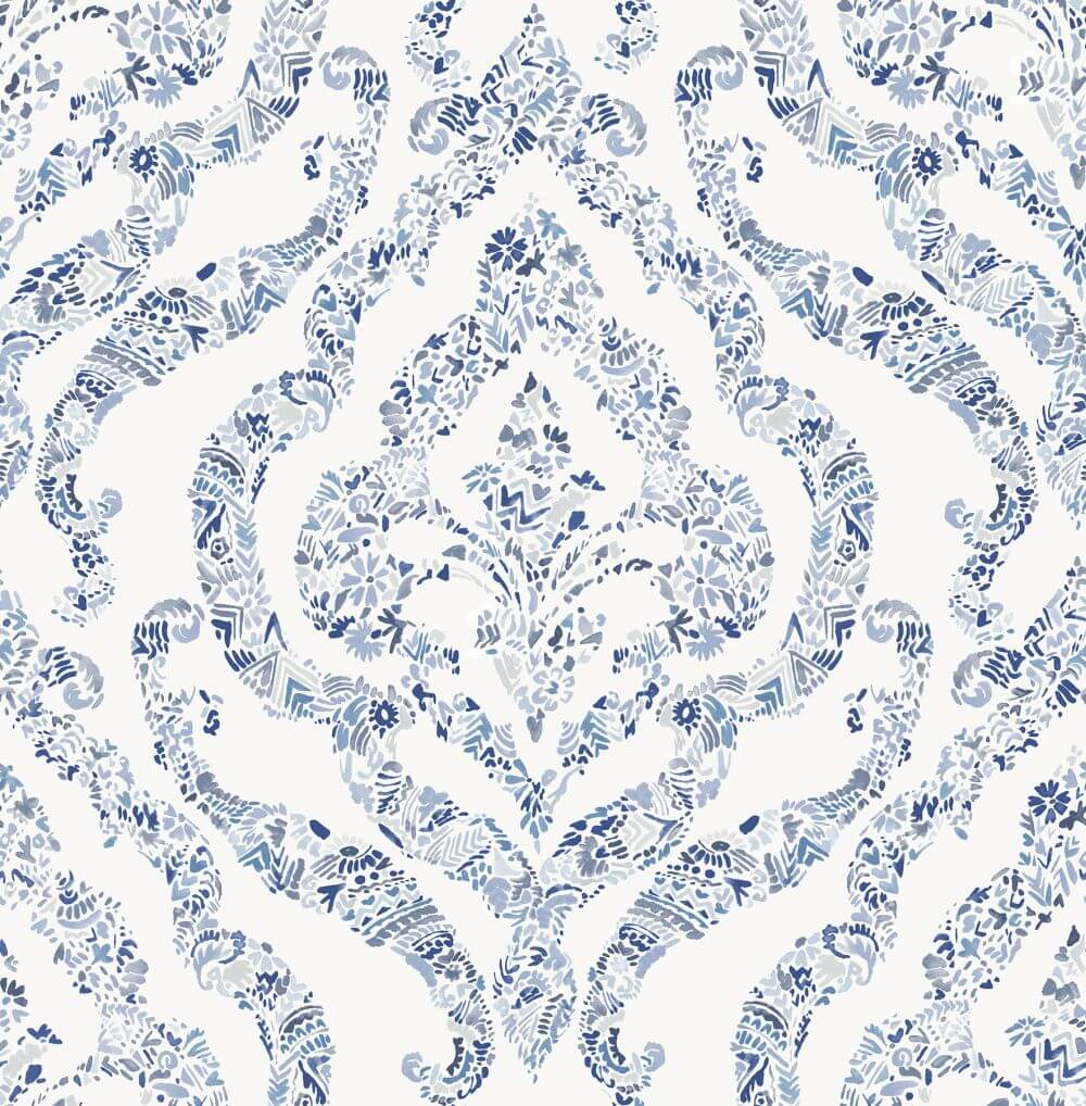 A Street Prints Featherton Blue Wallpaper - Product code: FD25403