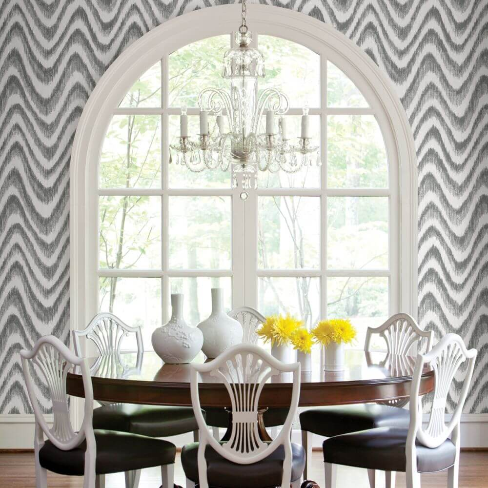 Bargello Wallpaper - Grey - by A Street Prints
