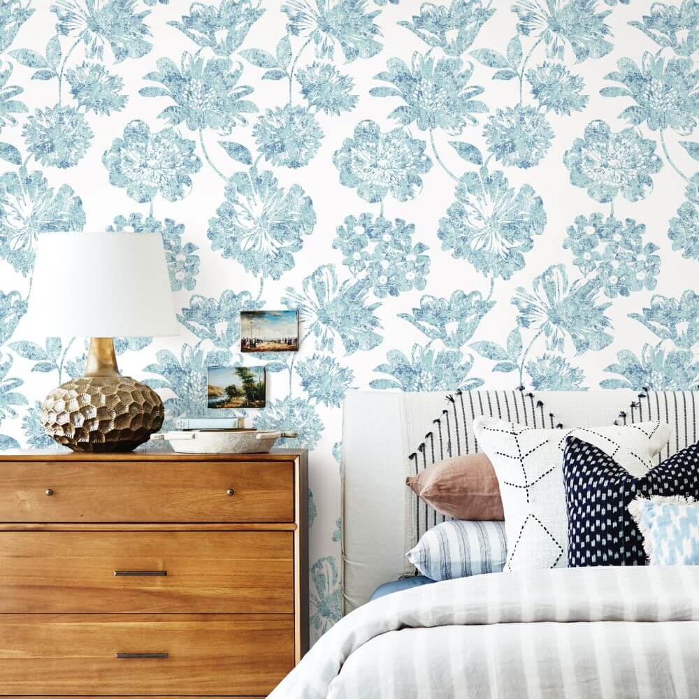 A Street Prints Folia Blue Wallpaper - Product code: FD25415