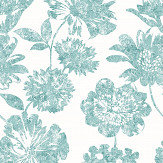 A Street Prints Folia Teal Wallpaper - Product code: FD25418