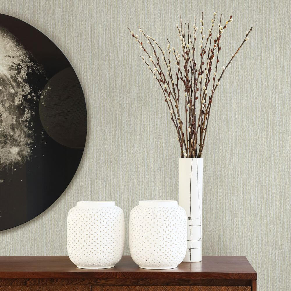 A Street Prints Raffia Grey Wallpaper - Product code: FD25422
