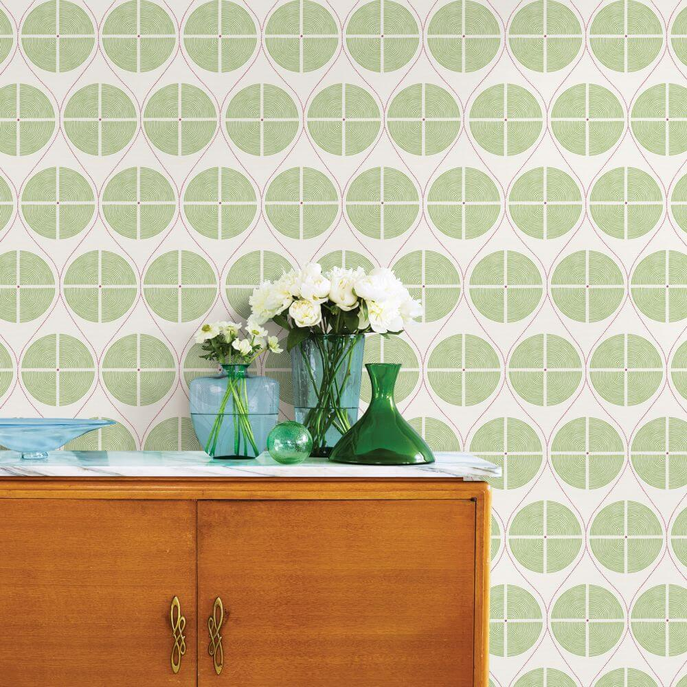 A Street Prints Luminary  Green / Pink Wallpaper - Product code: FD25426