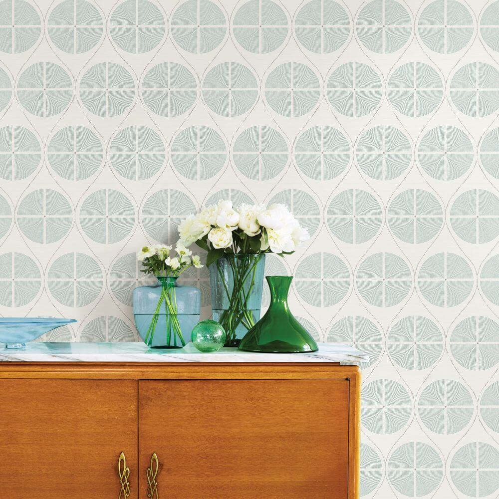 A Street Prints Luminary  Green / Grey Wallpaper - Product code: FD25427