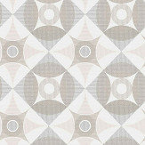 A Street Prints Ellis Grey / Pink Wallpaper - Product code: FD25133