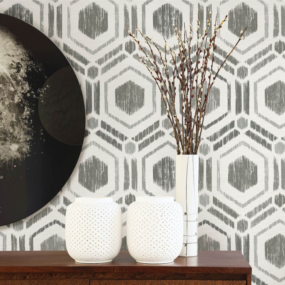 A Street Prints Borneo Grey Wallpaper - Product code: FD25432