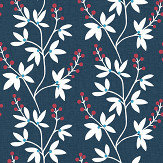 A Street Prints Linnea Blue / Red Wallpaper - Product code: FD25438